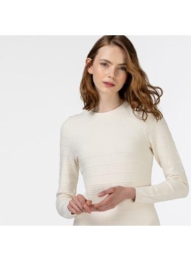 Lacoste Kadın Uzun Kollu Elbise EF0134.34B Beyaz